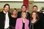 "Guiding Light's Bradley Cole ""Jeffrey"", Kim Zimmer ""Reva"", Frank Dicopoulos ""Frank Cooper"" and Robert Newman ""Josh"" pose with cofounders Jennifer Kehm and Lisa Edmonds of  the Young Women's Breast Cancer Foundation event - Reach to Recovery - ""Spring into Shape!"" Luncheon and Fashion Show on April 6, 2008 at Embassy Suites, Coraopolis, Pennsylvania. The event also included a Chinese Auction and an autograph session with the Guiding Light actors. (Photo by Sue Coflin/Max Photos)"