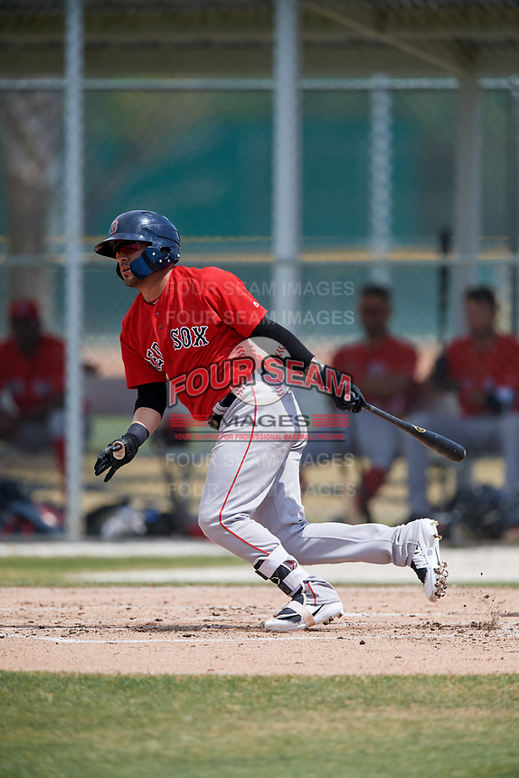Boston Red Sox Victor Acosta (13) during a Minor League Spring Training game against the Baltimore Orioles on March 20, 2018 at Buck O'Neil Complex in Sarasota, Florida.  (Mike Janes/Four Seam Images)
