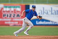 South Bend Cubs shortstop Rafael Narea (2) during the first game of a doubleheader against the Lake County Captains on May 16, 2018 at Classic Park in Eastlake, Ohio.  South Bend defeated Lake County 6-4 in twelve innings.  (Mike Janes/Four Seam Images)