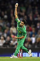 10th January 2020; Marvel Stadium, Melbourne, Victoria, Australia; Big Bash League Cricket, Melbourne Renegades versus Melbourne Stars; Harris Rauf of the Stars bowls the ball - Editorial Use