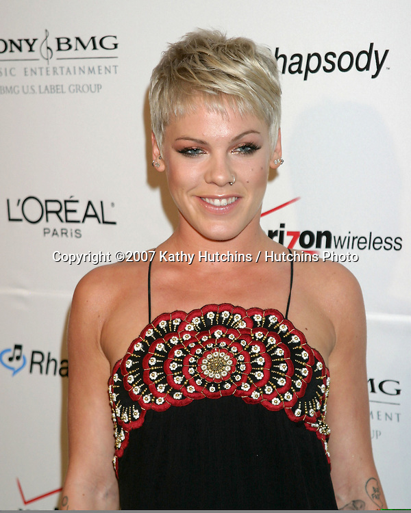 Pink.Clive Davis Annual Pre-Grammy Party.Beverly Hilton Hotel.Los Angeles, CA.February 10, 2007.©2007 Kathy Hutchins / Hutchins Photo.