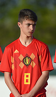 20180417 - TUBIZE , BELGIUM : Belgian Luca Oyen pictured during the friendly  soccer match between  under 15 teams of  Belgium and Switzerland , in Tubize , Belgium . Tuesday 17 th April 2018 . PHOTO SPORTPIX.BE / DIRK VUYLSTEKE