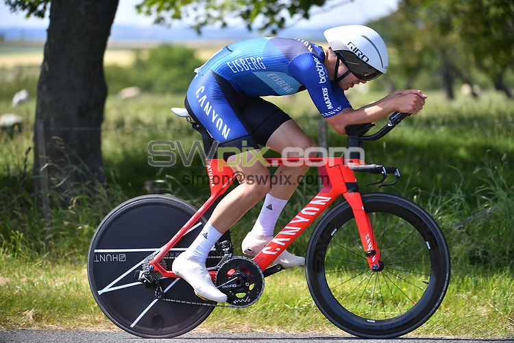 Picture by SWpix.com 28/06/2018 - HSBC UK Men's U23 National Time Trial Championships - Kirkley Hall, Northumberland, England - Charlie Tanfield of Canyon Eisberg
