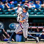 18 July 2018: Trenton Thunder infielder Kyle Holder in action against the New Hampshire Fisher Cats at Northeast Delta Dental Stadium in Manchester, NH. The Thunder defeated the Fisher Cats 3-2 concluding a previous game started April 29. Mandatory Credit: Ed Wolfstein Photo *** RAW (NEF) Image File Available ***