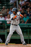 Short Stop Gustavo Nunez #7 of the Lakeland Flying Tigers during the game against the Daytona Beach Cubs at Jackie Robinson Ballpark on April 20, 2011 in Daytona Beach, Florida. Photo by Scott Jontes / Four Seam Images