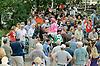 Via Villaggio before The Delaware Oaks (gr 2) at Delaware Park on 7/14/12