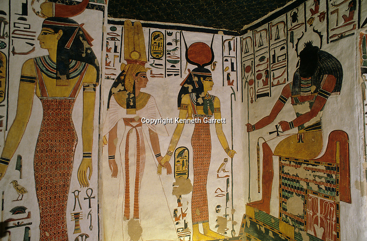 Egypt's Valley of the Kings; Tomb of Queen Nefertari; Egypt, wife of Ramses II (The Great), Valley of the Queens, New Kingdom, Egypt