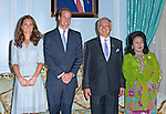 """CATHERINE, DUCHESS OF CAMBRIDGE AND PRINCE WILLIAM.attend lunch hosted by Najib Tun Razak The Malaysian Prime Minister_13/09/2012.Mandatory credit photo: ©SH Pool/DIASIMAGES..""""""""NO UK USE FOR 28 DAYS UNTIL 12TH OCTOBER 2012""""..                **ALL FEES PAYABLE TO: """"NEWSPIX INTERNATIONAL""""**..IMMEDIATE CONFIRMATION OF USAGE REQUIRED:.DiasImages, 31a Chinnery Hill, Bishop's Stortford, ENGLAND CM23 3PS.Tel:+441279 324672  ; Fax: +441279656877.Mobile:  07775681153.e-mail: info@newspixinternational.co.uk"""