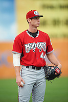 Carolina Mudcats pitcher David Peterson (44) during a game against the Frederick Keys on June 4, 2016 at Nymeo Field at Harry Grove Stadium in Frederick, Maryland.  Frederick defeated Carolina 5-4 in eleven innings.  (Mike Janes/Four Seam Images)