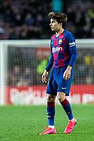 2nd February 2020; Camp Nou, Barcelona, Catalonia, Spain; La Liga Football, Barcelona versus Levante; Riqui Puig of FC Barcelona on as a substitute in the 87th minute