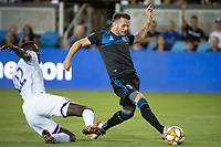 SAN JOSE,  - SEPTEMBER 1: Vako Qazaishvili #11 of the San Jose Earthquakes during a game between Orlando City SC and San Jose Earthquakes at Avaya Stadium on September 1, 2019 in San Jose, .