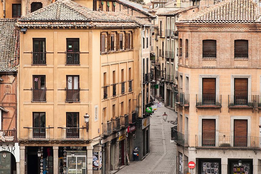 Street and buildings, Segovia, Spain