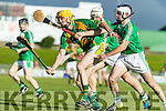 Tom Murnane Kilmoyley in action against Jack Goulding Ballyduff in the County Senior Hurling Final in Austin Stack Park on Saturday evening.