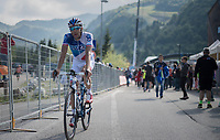 Thibaut Pinot (FRA/FDJ) after finishing<br /> <br /> Stage 19: San Candido/Innichen › Piancavallo (191km)<br /> 100th Giro d'Italia 2017