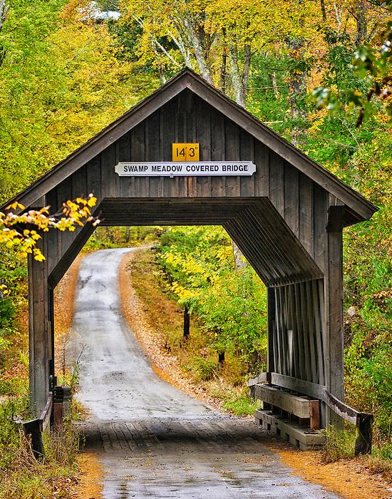 Swamp Meadow Covered Bridge in Rhode Island
