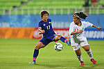 Chinatsu Kira (JPN), <br /> SEPTEMBER 18, 2014 - Football / Soccer : <br /> Women's Group Stage <br /> between Japan Women's - Jordan Women's <br /> at Namdong Asiad Rugby Field <br /> during the 2014 Incheon Asian Games in Incheon, South Korea. <br /> (Photo by YUTAKA/AFLO SPORT)