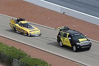 Apr. 7, 2013; Las Vegas, NV, USA: NHRA funny car driver Tony Pedregon on the return road during the Summitracing.com Nationals at the Strip at Las Vegas Motor Speedway. Mandatory Credit: Mark J. Rebilas-
