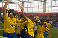 SÃO PAULO,SP, 24.03.2017 - BRASIL-ARGENTINA - Final do futebol de cinco para deficientes visuais entre Brasil e Argentina no CT Paralímpico Brasileiro, no Parapan da Juventude em São Paulo nesta sexta-feira, 24. (Foto: Danilo Fernandes/Brazil Photo Press)
