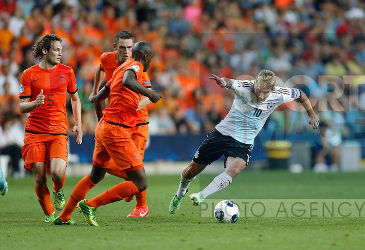 Germany's Lewis Holtby in action<br /> <br /> - Netherlands U21 vs Germany U21  - UEFA U21 Championship 2013  - Ha Moshava Stadium  - Petah Tikva - Israel - 05/06/2013  - Pic David Klein/Sportimage