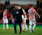 Dejected Carlos Carvalhal manager of Sheffield Wednesday walks off at the end - Capital One Cup Quarter-Final - Stoke City vs Sheffield Wednesday - Britannia Stadium - Stoke - England - 1st December 2015 - Picture Simon Bellis/Sportimage