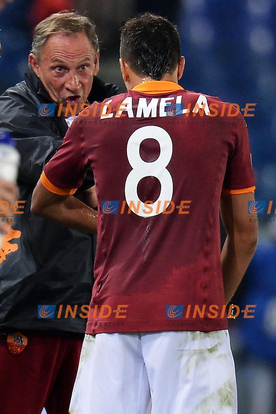 "Zdenek Zeman Roma, Erik Lamela.Roma 4/11/2012 Stadio ""Olimpico"".Football Calcio 2012/2013 Serie A.Roma Vs Palermo.Foto Andrea Staccioli Insidefoto"