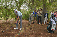 Kevin Kisner (USA) prepares to take a drop on 7 during day 5 of the World Golf Championships, Dell Match Play, Austin Country Club, Austin, Texas. 3/25/2018.<br /> Picture: Golffile | Ken Murray<br /> <br /> <br /> All photo usage must carry mandatory copyright credit (© Golffile | Ken Murray)