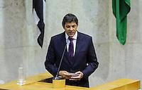 SAO PAULO, SP, 05 DE FEVEREIRO 2013 - ABERTURA ANO LEGISLATIVO - O prefeito de São Paulo, Fernando Haddad participa da sessão de Abertura do Ano Legislativo da Câmara Municipal de São Paulo (SP), nesta terça-feira (5). FOTO: VANESSA CARVALHO - BRAZIL PHOTO PRESS