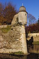 Europe/France/Bourgogne/21/Côte d'Or/Epoisses: Le Château - Détail d'une échauguette