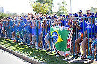 RIO DE JANEIRO, RJ, 31.08.2014 - MEIA MARATONA INTERNACIONAL DO RIO DE JANEIRO - Público durante a meia maratona internacional do Rio de Janeiro, com chegada no Aterro do Flamengo, neste domingo, 31. (Foto: Gustavo Serebrenick / Brazil Photo Press).