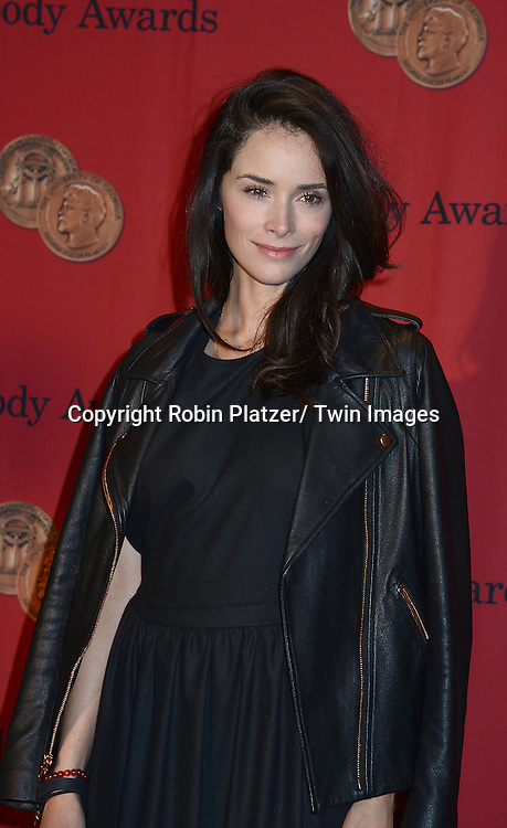 Abigail Spencer attends the 73rd Annual Peabody Awards on May 19, 2014 at The Waldorf Astoria Hotel in New York City, New York, USA.