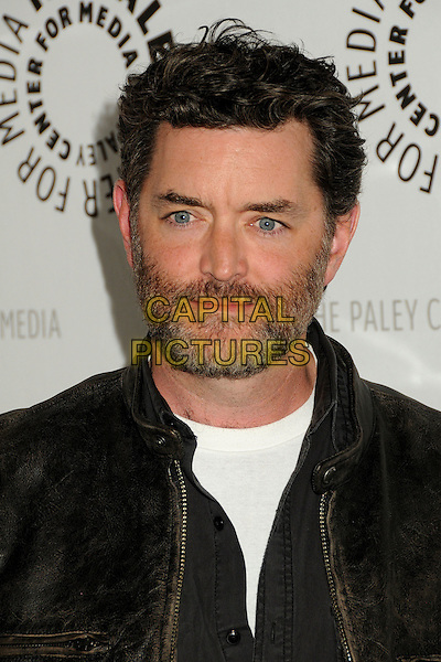 "TIMOTHY ORMUNDSON .""Psych"", A Twin Peaks Reunion Premiere Screening of a ""Twin Peaks"" Inspired Episode of USA Network's ""Psych"" held at the Paley Center, Beverly Hills, California, USA, .29th November 2010..portrait headshot beard facial hair white black leather .CAP/ADM/BP.©Byron Purvis/AdMedia/Capital Pictures."