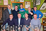 Jersey Presentation: Irish Rugby Star, Jonathan Sexton, presenting his first Irish cap jersey against Fiji to his godfather, Billy Keane , on Saturday night  last in John B's pub in Listowel. Front : Cathail Kenny, Conor Keane, Eugene Moriarity, & Hugh Stack. Back: Barry Mahony, David Fitzmaurice, Jonathan Sexton, Brian Burke and Billy Keane.