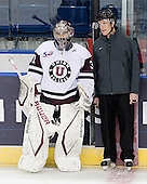 Corey Milan (Union - 31), Chris Millea - The University of Minnesota-Duluth Bulldogs defeated the Union College Dutchmen 2-0 in their NCAA East Regional Semi-Final on Friday, March 25, 2011, at Webster Bank Arena at Harbor Yard in Bridgeport, Connecticut.