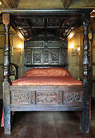 BNPS.co.uk (01202 558833)<br /> Pic: Dukes/BNPS<br /> <br /> Two oak four poster beds - one from the time of Henry VIII and one from Charles I (PICTURED) - sold for a combined fee of over £80,000.<br /> <br /> A grand country house is bracing itself for a huge influx of international visitors as its contents of antiques, furniture and paintings go on display ahead of an everything-must-go sale.<br /> <br /> The auction of a myriad of treasures inside Athelhampton House in Dorset, which is expected to raise over £1million, is being hailed as one of the best country house sales for a generation. <br /> <br /> The doors of the £7m Tudor mansion will be thrown open to visitors and potential bidders for four days from tomorrow (Sat).