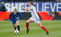 Columbus, Ohio - Thursday March 01, 2018: Fran Kirby during a 2018 SheBelieves Cup match between the women's national teams of the England (ENG) and France (FRA) at MAPFRE Stadium.