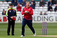 Simon Harmer of Essex celebrates taking the wicket of Miles Hammond during Essex Eagles vs Gloucestershire, Royal London One-Day Cup Cricket at The Cloudfm County Ground on 7th May 2019