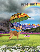 PAUL,REALISTIC ANIMALS, REALISTISCHE TIERE, ANIMALES REALISTICOS, paintings+++++NW_Rain Dog1,USLGNW12,#a#, EVERYDAY ,funny photos