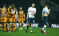 Preston North End's Paul Huntington shows his dejection at the final whistle<br /> <br /> Photographer Stephen White/CameraSport<br /> <br /> The EFL Sky Bet Championship - Preston North End v Hull City - Wednesday 26th December 2018 - Deepdale Stadium - Preston<br /> <br /> World Copyright &copy; 2018 CameraSport. All rights reserved. 43 Linden Ave. Countesthorpe. Leicester. England. LE8 5PG - Tel: +44 (0) 116 277 4147 - admin@camerasport.com - www.camerasport.com