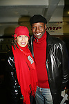 Tamara Tunie poses with her husand Gregory Generet at the 2009 Skating with the Stars - a benefit gala for Figure Skating in Harlem on April 6, 2009 at Wollman Rink, Central Park, NYC, NY. (Photo by  Sue Coflin/Max Photos)