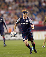 New England Revolution midfielder Pat Phelan (28) controls the ball. The Philadelphia Union defeated New England Revolution, 2-1, at Gillette Stadium on August 28, 2010.