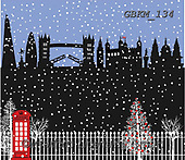 Kate, CHRISTMAS SYMBOLS, WEIHNACHTEN SYMBOLE, NAVIDAD SÍMBOLOS, paintings+++++Christmas page 106,GBKM134,#xl#,london ,winterlandscape