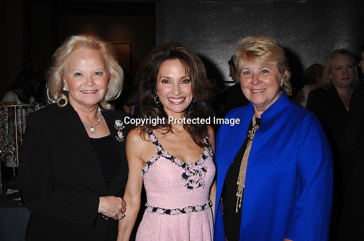 Jane Pontarelli, Chairwomen of The Rose Luncheon, SusanLucci and Honoree Mara Urshel..at The Rose Luncheon on June 20, 2007 at The Mandarin Oriental  Hotel. Little Flower Children and Family Services of New York is the Charity that benefits from the luncheon. ..Robin Platzer, Twin Images......212-935-0770