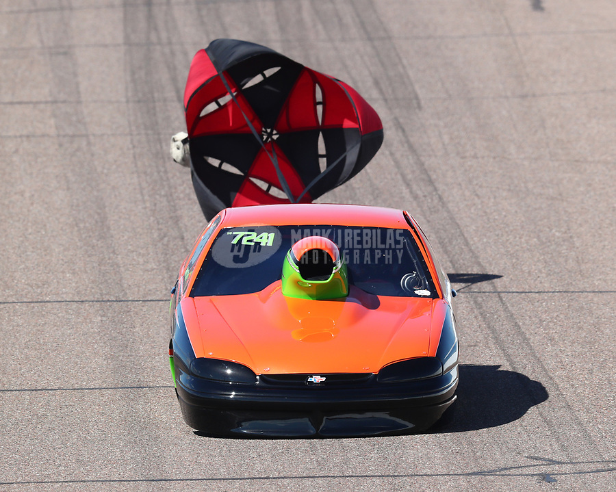Feb 23, 2019; Chandler, AZ, USA; NHRA top sportsman driver Bart Smith during qualifying for the Arizona Nationals at Wild Horse Pass Motorsports Park. Mandatory Credit: Mark J. Rebilas-USA TODAY Sports