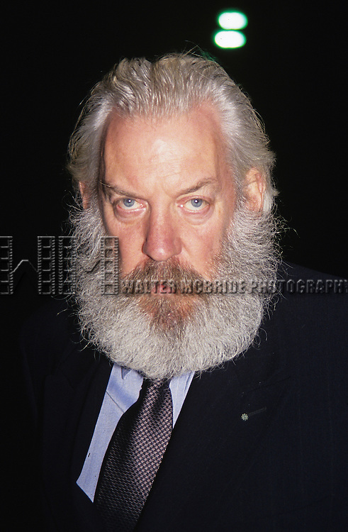 """Donald Sutherland pictured at """"Experience the Divine"""" Bette Midler in concert at Radio City Music Hall in New York City on September 14, 1993."""