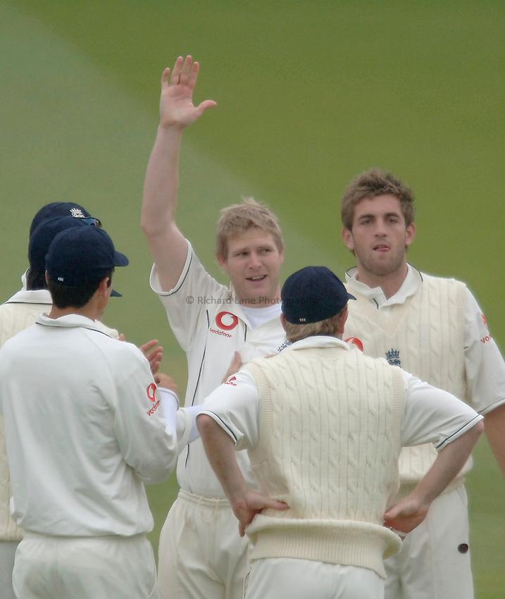 Photo: Glyn Thomas..England v Sri Lanka. nPower Test Match Series. 13/05/2006..England's Matthew Hoggard celebrates taking his 200th Test Match wicket.