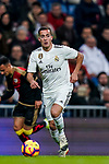 Lucas Vazquez of Real Madrid runs with the ball during the La Liga 2018-19 match between Real Madrid and Rayo Vallencano at Estadio Santiago Bernabeu on December 15 2018 in Madrid, Spain. Photo by Diego Souto / Power Sport Images