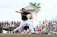 Pittsburgh Pirates pitcher Nick Kingham (62) during a Spring Training game against the Boston Red Sox on March 12, 2015 at McKechnie Field in Bradenton, Florida.  Boston defeated Pittsburgh 5-1.  (Mike Janes/Four Seam Images)