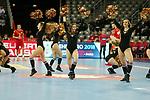 13.01.2018., Croatia, Arena Zagreb, Zagreb - European Handball Championship, Group C, Round 1, Germany - Montenegro. Cheerleaders<br /> <br /> Foto &copy; nordphoto / Dalibor Urukalovic/PIXSELL