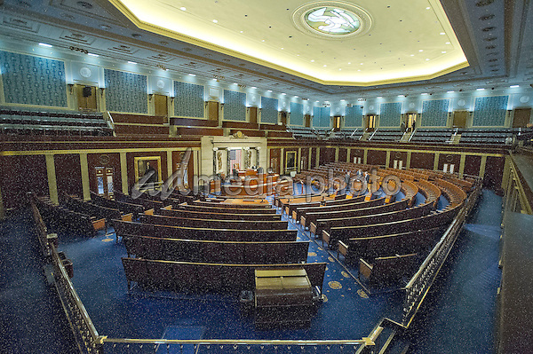 Nearly Empty United States House Of Representatives Chamber Prior To The Session Where Us Representative Paul