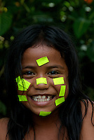 POHNPEI GIRL, WITH PRICE TAGS ON HER FACE